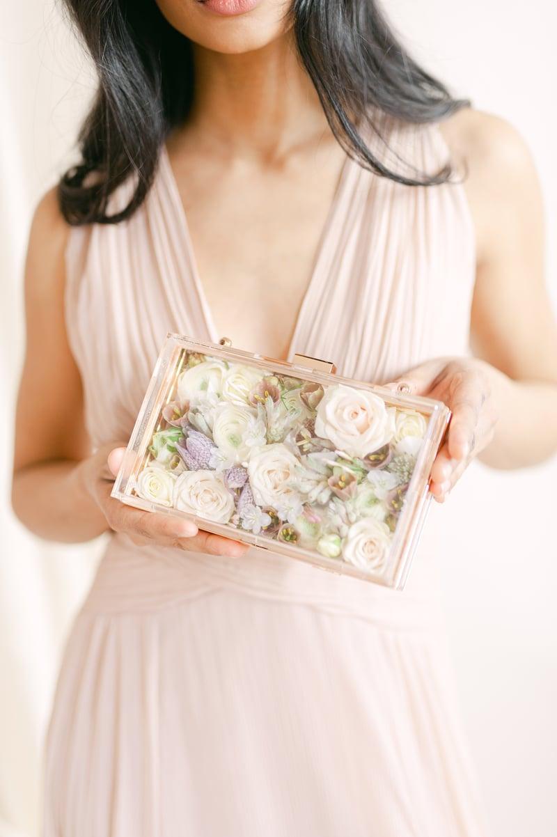 Joseph Massie: bridal flower clutch or purse