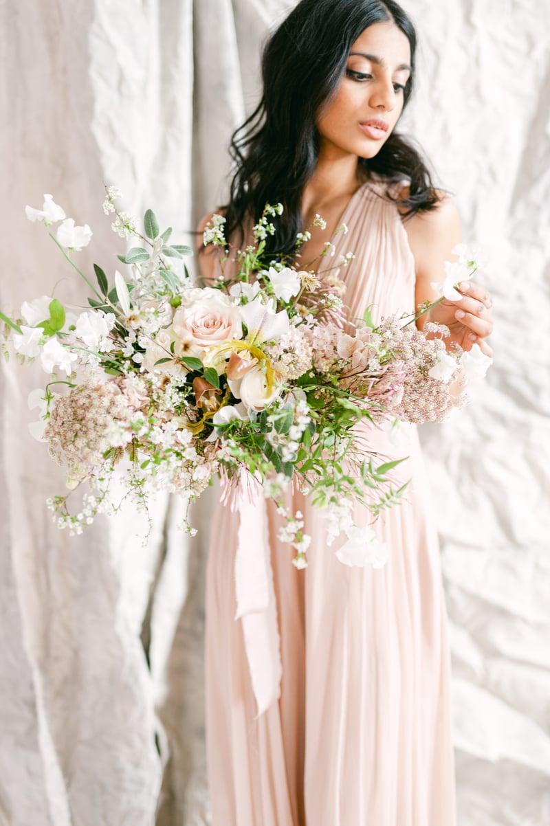 Joseph Massie: garden wedding bouquet in white and blush