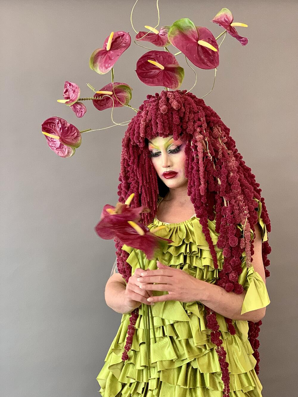 Mister Lee Designs Floral Wig59