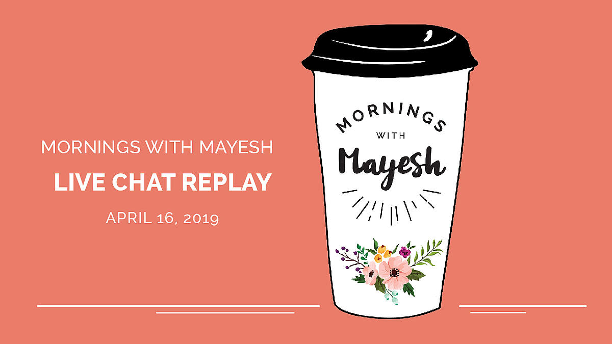Mornings with Mayesh - Answer florist questions about flowers, business, and design