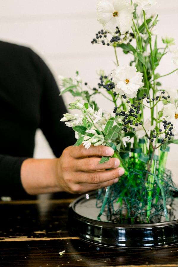 designing a flower cloche or bell jar