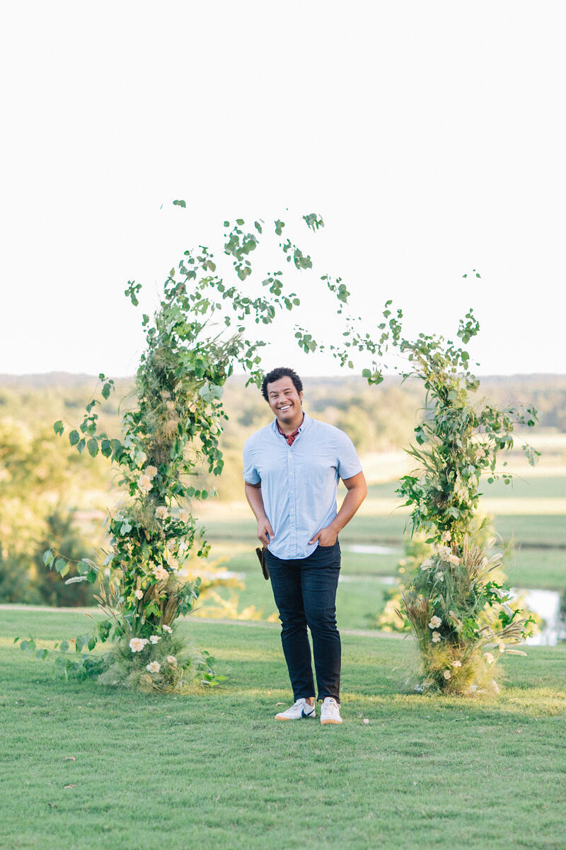 floating flower arch by Shean Strong, Mayesh Design Star