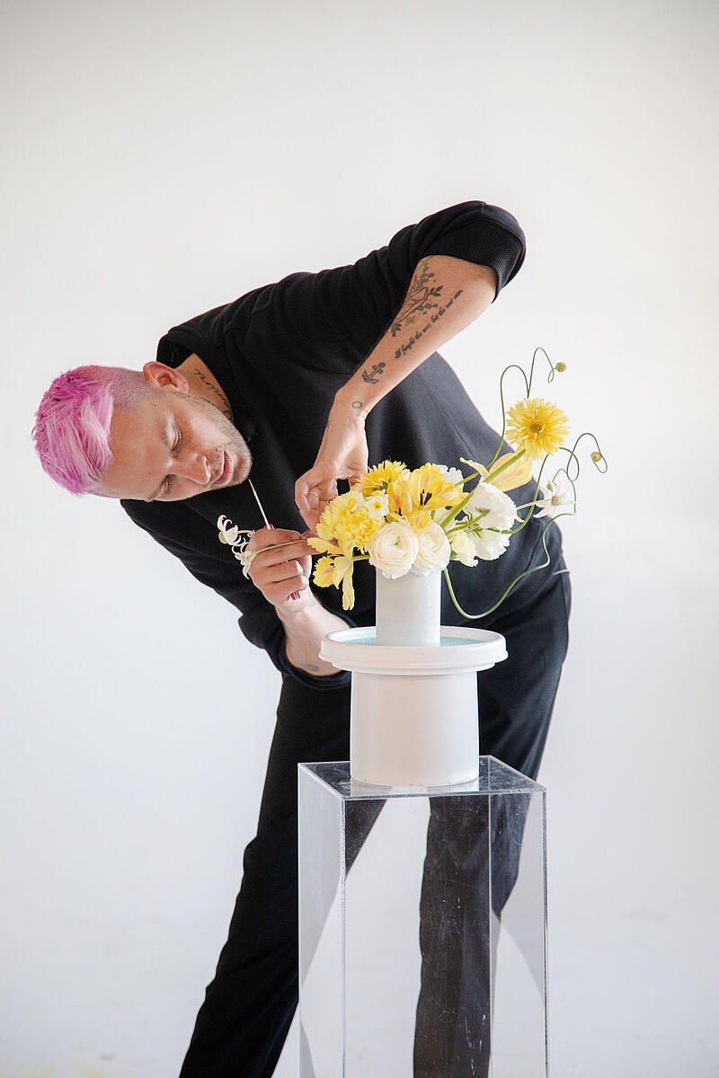 how to design flowers with Anthony Maslo
