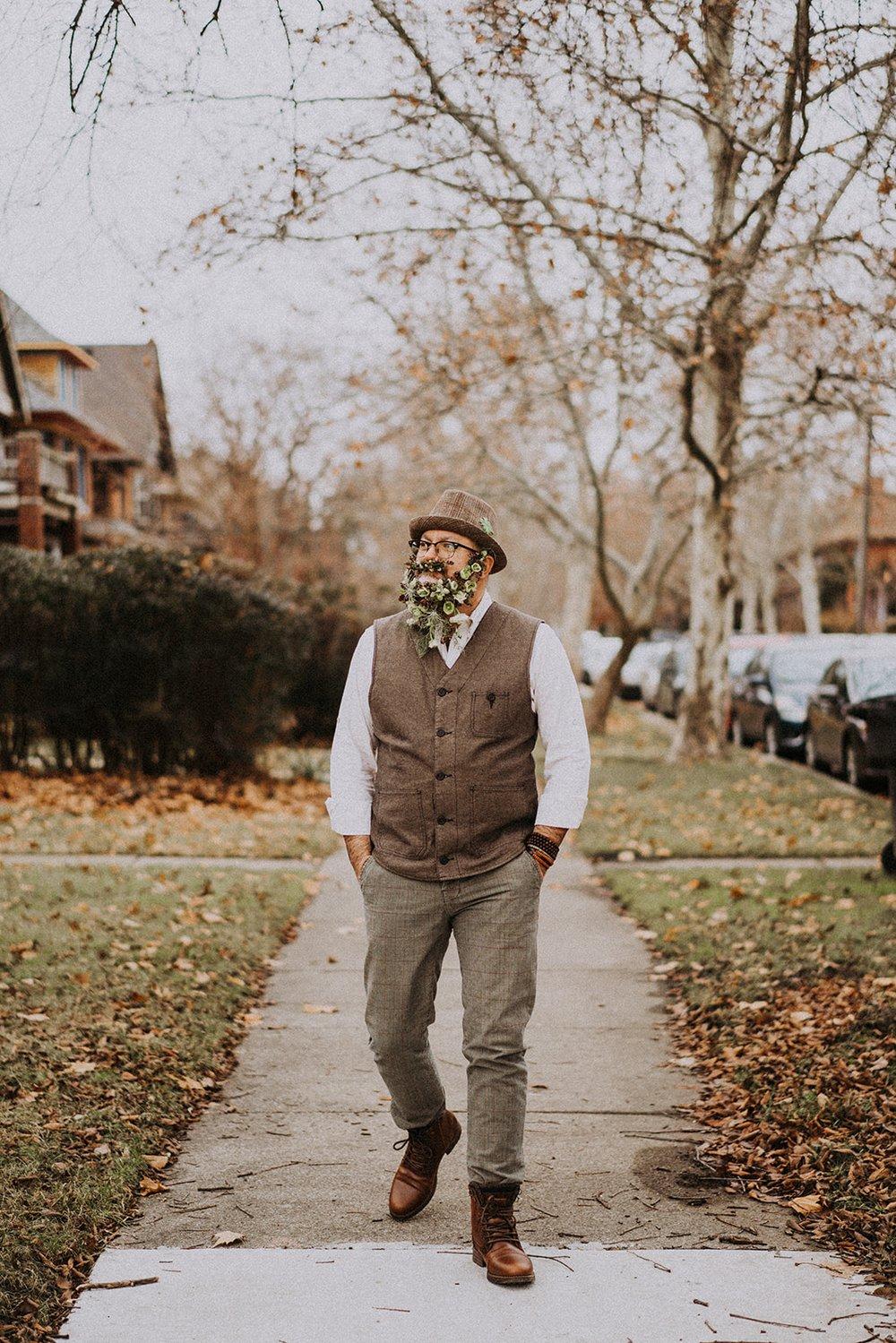 No-Shave November Floral Beard