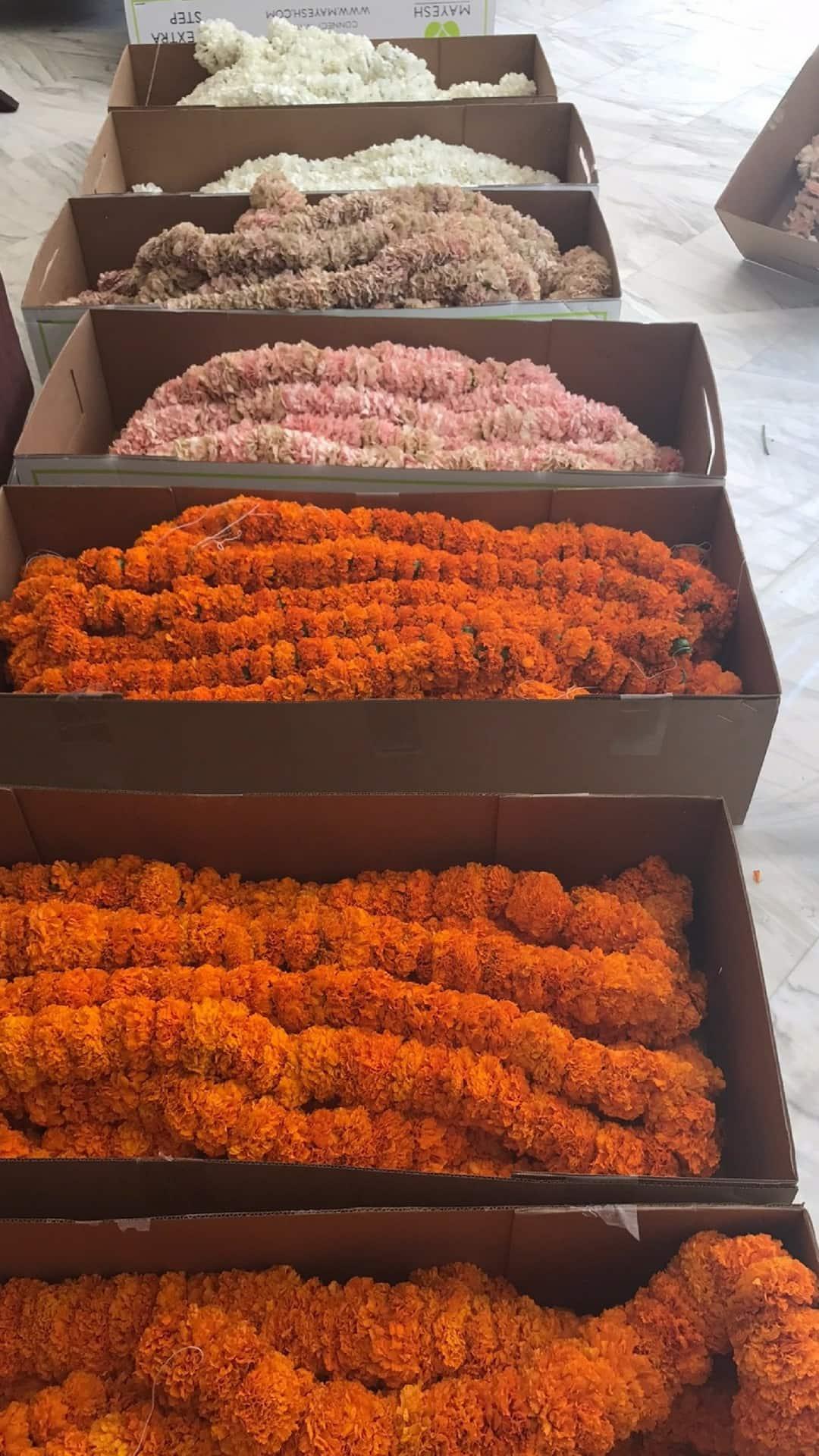 Marigold and carnation garland