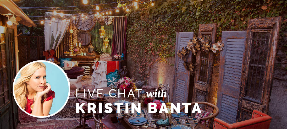 live chat with Kristin Banta