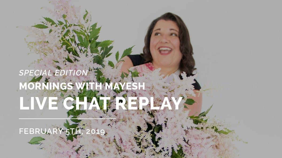 Mornings with Mayesh: Sarah Campbell