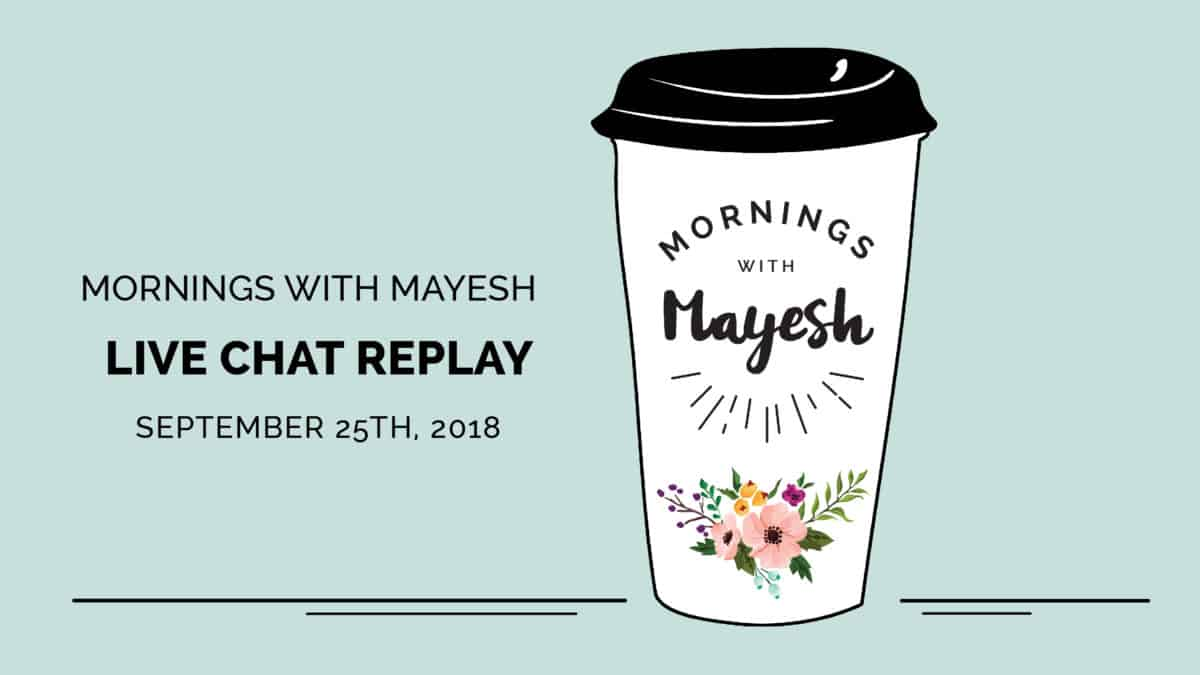 Mornings with Mayesh: Instagram Tips