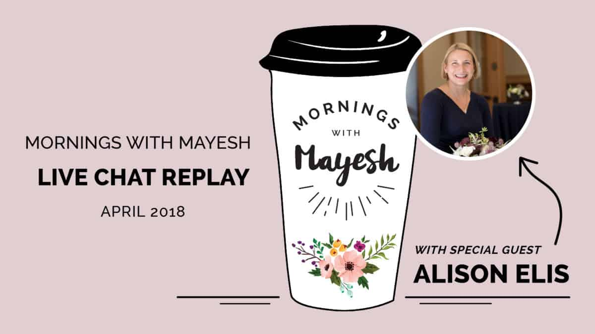 Mornings with Mayesh: April 2018