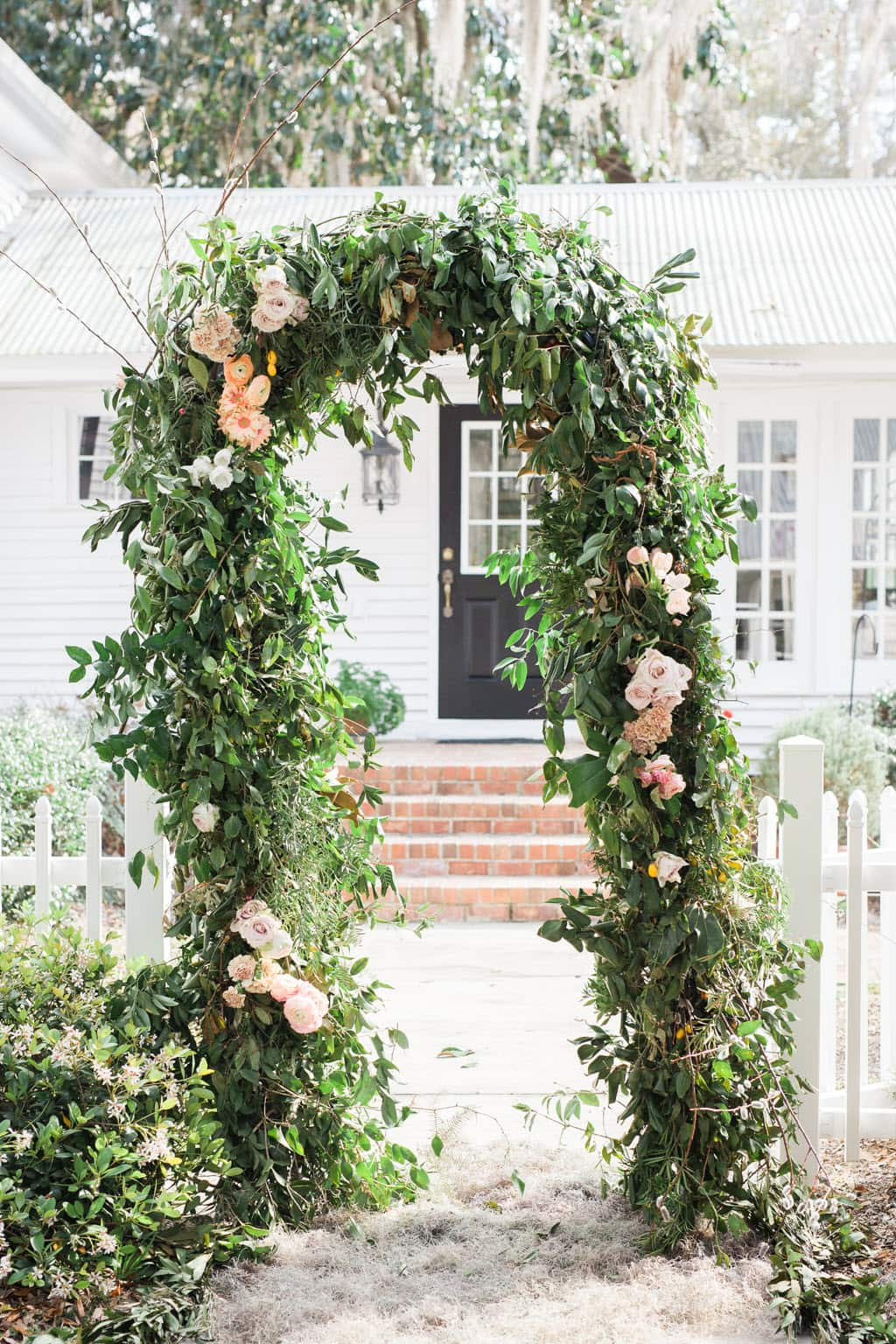 smilax arbor for weddings, events, or photo backdrops