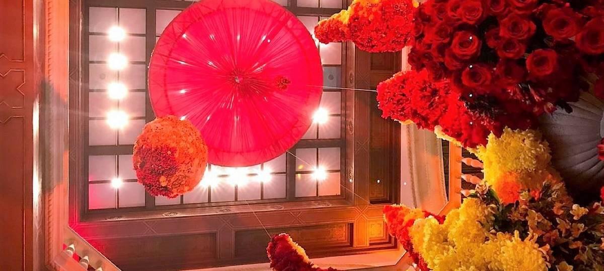 rotunda design by Carlos Franco of Green Fresh Florals