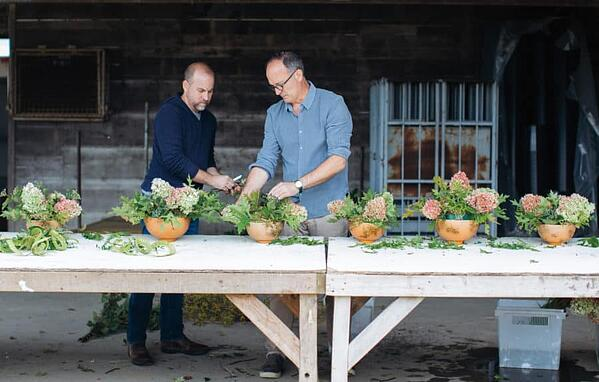 Garden District co-owners Greg Campbell and Erick New - authors of Florists to the Field