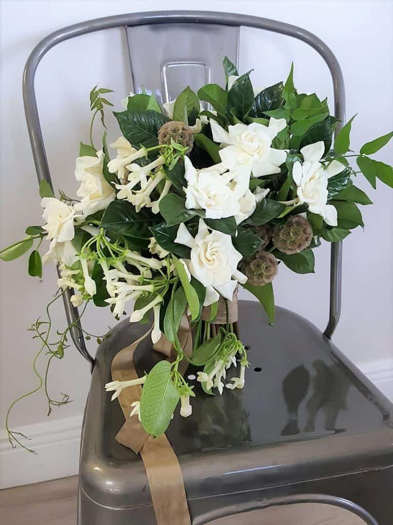 Gardenia and Stephanotis Vine Bridal Bouquet