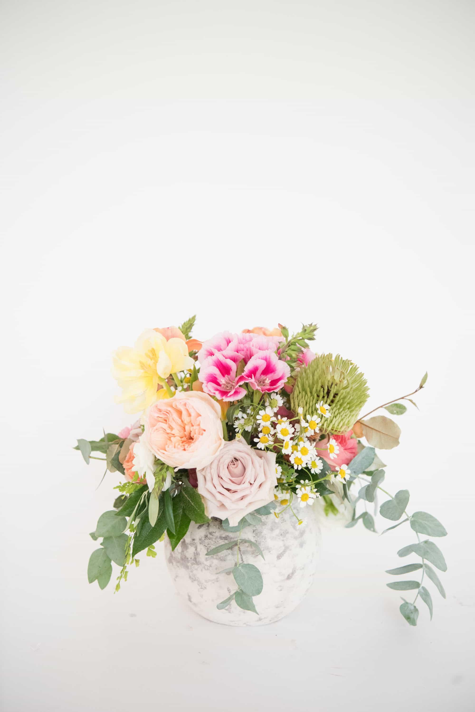 garden style arrangements for retail florists