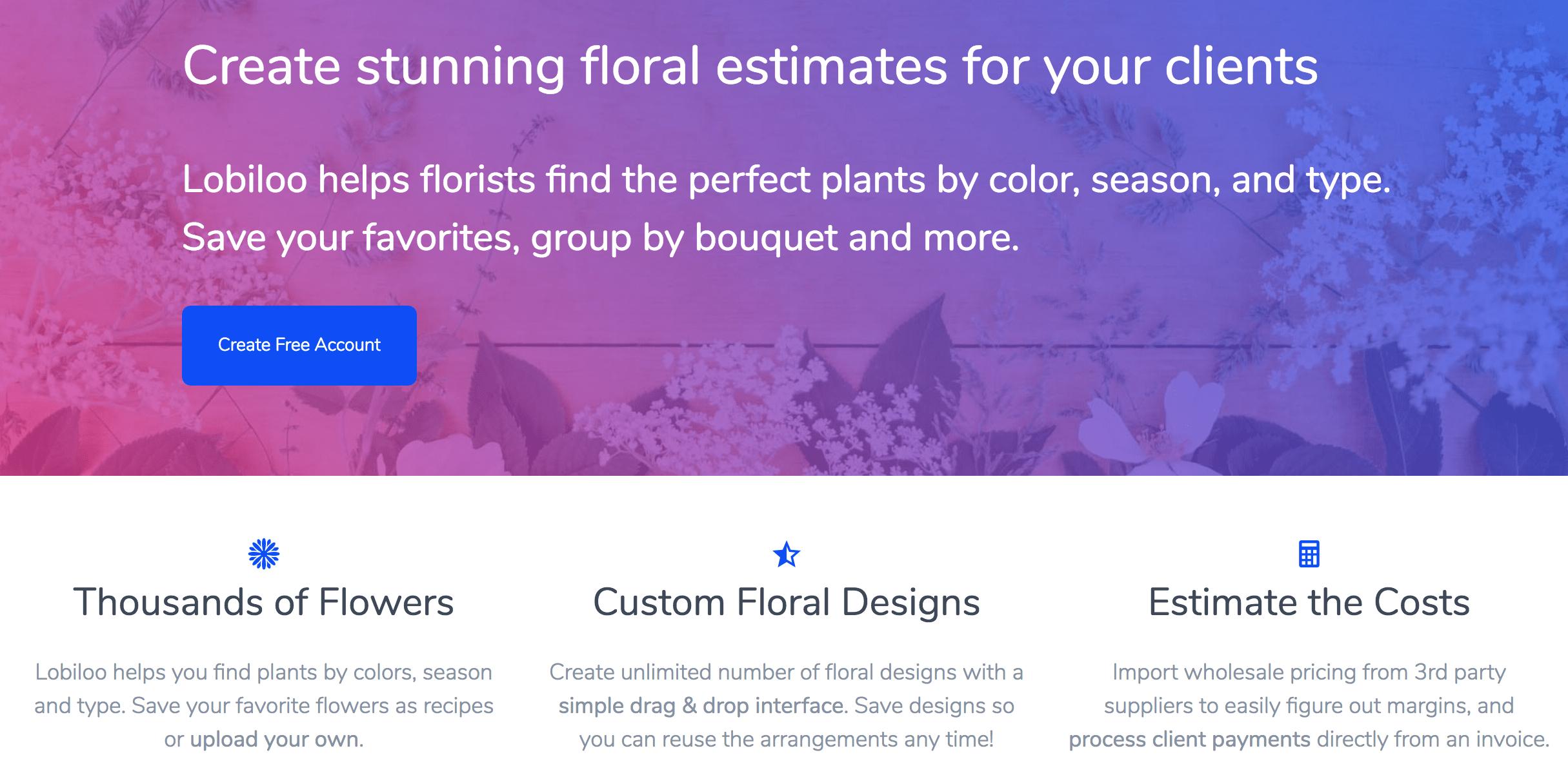Florist Software Comparison Lobiloo