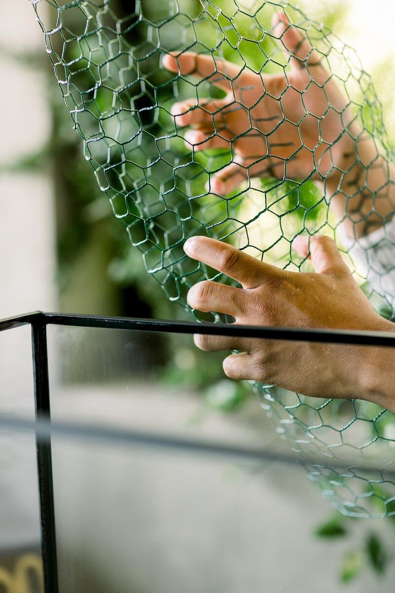 floral supplies including Oasis chicken wire