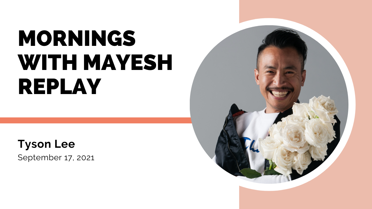 Tyson Lee of Mr. Lee Designs on Mornings with Mayesh