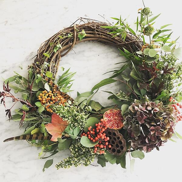 Branches and Blooms by Beth wreath