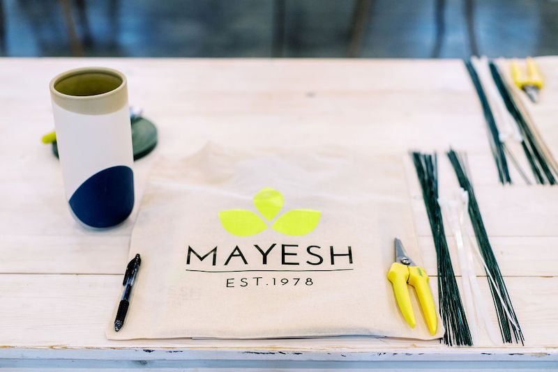 Accent Decor and Oasis products at the Mayesh Design Star Workshop in Columbus, OH