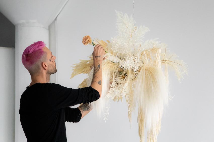Mayesh Design Star Video Anthony Maslo Dried Hanging Installation
