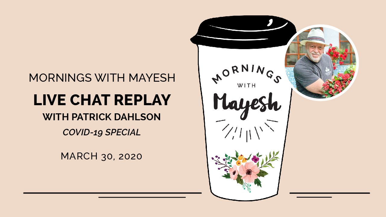 Mornings with Mayesh: Patrick Dahlson, COVID-19 and the Floral Industry